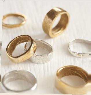 Bespoke Fingerprint Wedding Ring by Patrick Laing
