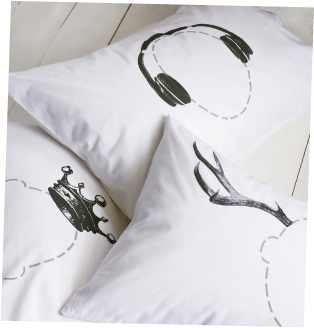 Head Case Pillowcase by Twisted Twee